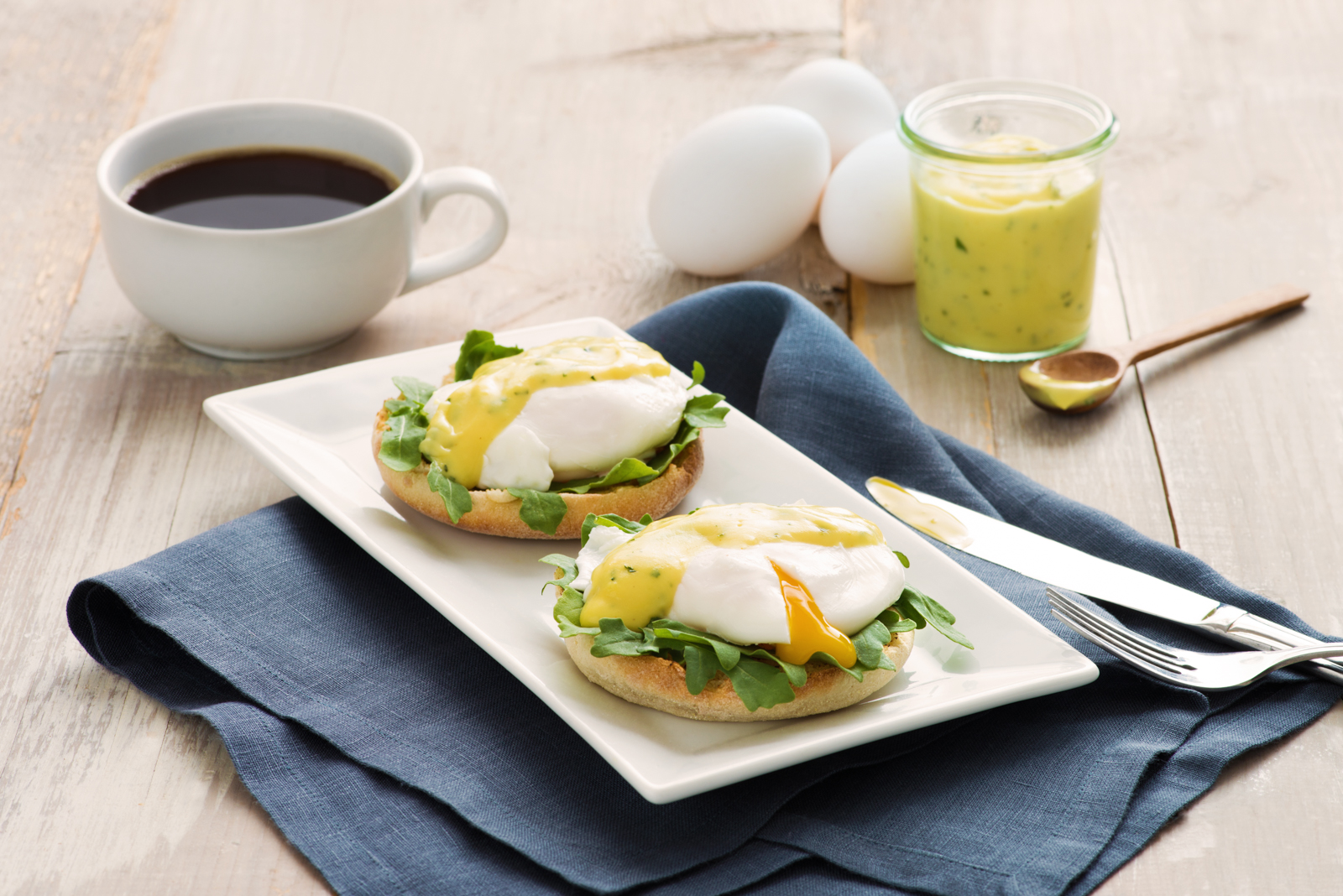 Poached Eggs With B Arnaise Sauce