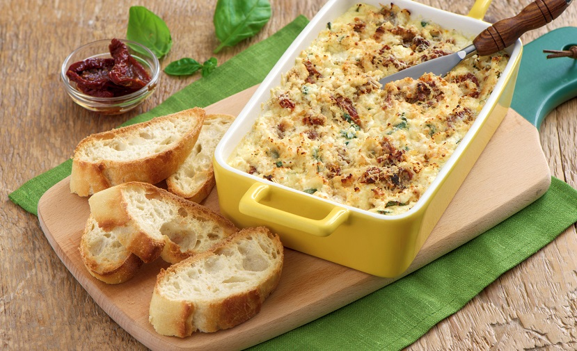 Sun-Dried Tomato and Basil Baked Ricotta | Eggs.ca