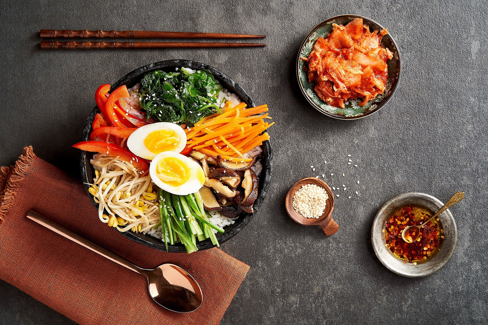 Bibimbap Korean Rice Bowl Get Cracking