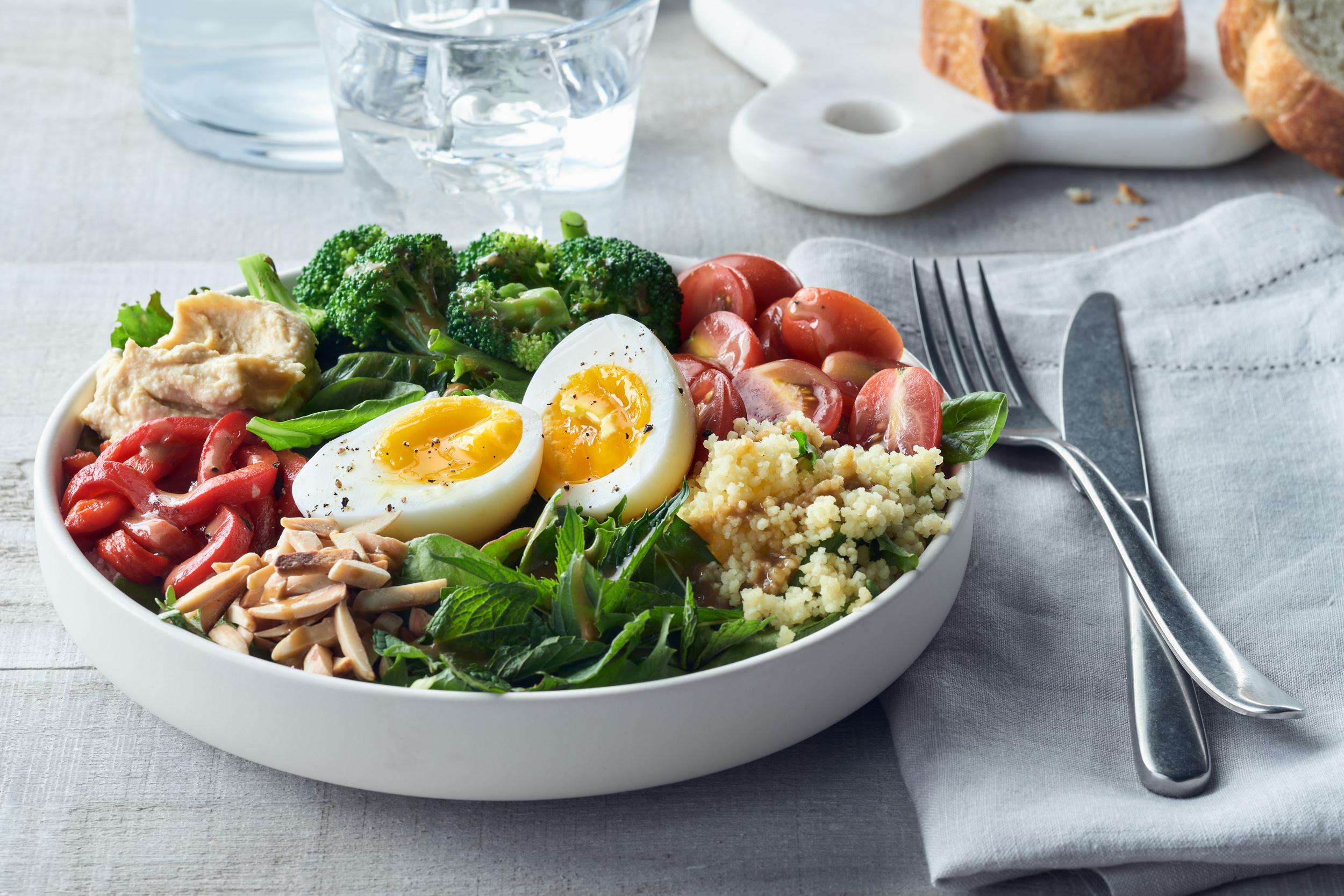 Mediterranean Salad Bowl Get Cracking