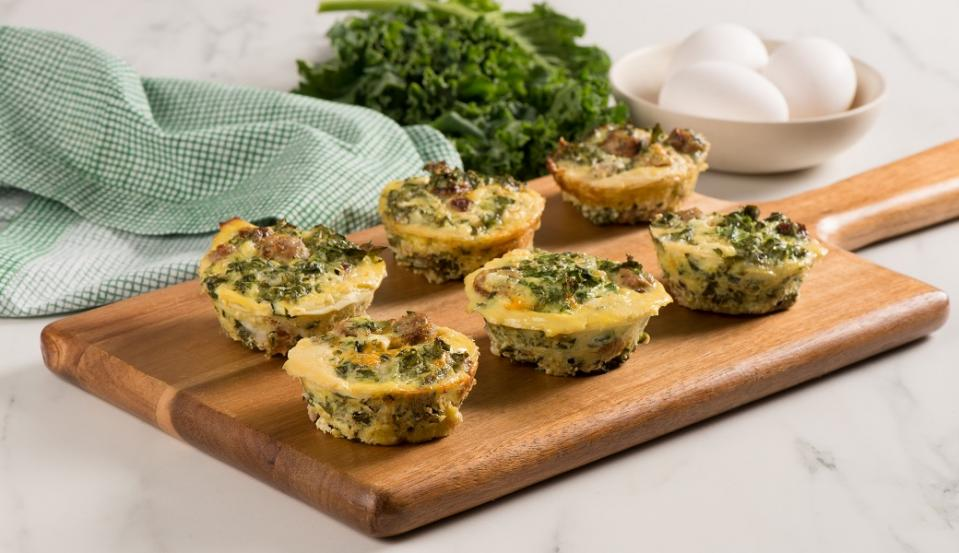 Kale and Sausage Frittata Cups Step 3 CMS